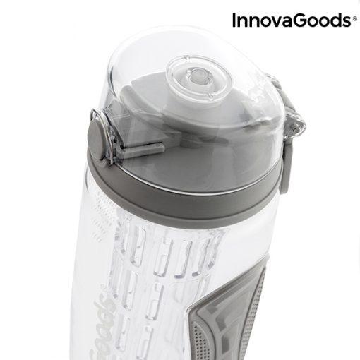 bouteille eau avec filtre infuseur fruits gris capot