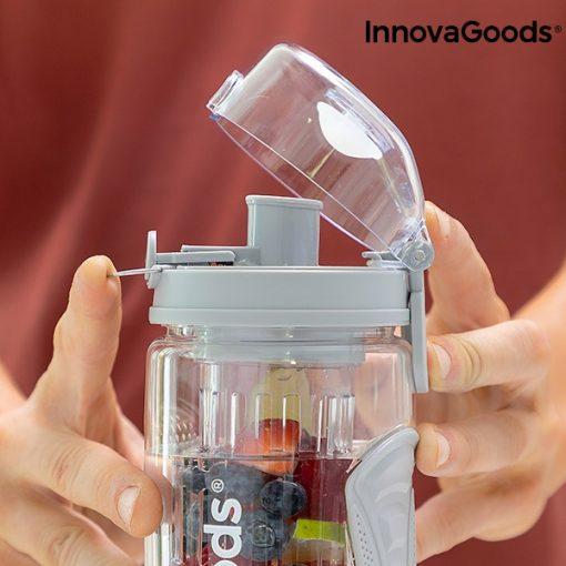 bouteille eau avec filtre infuseur fruits fermeture securisee