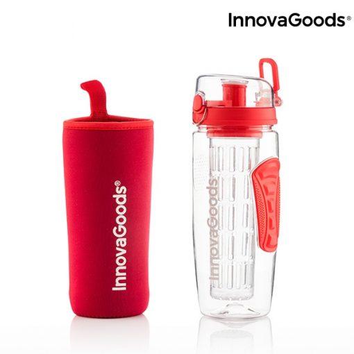 bouteille eau avec filtre infuseur fruits rouge