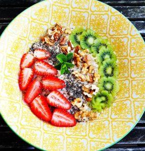 recette porridge kiwi fraise