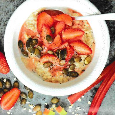 recette porridge fraise rhubarbe