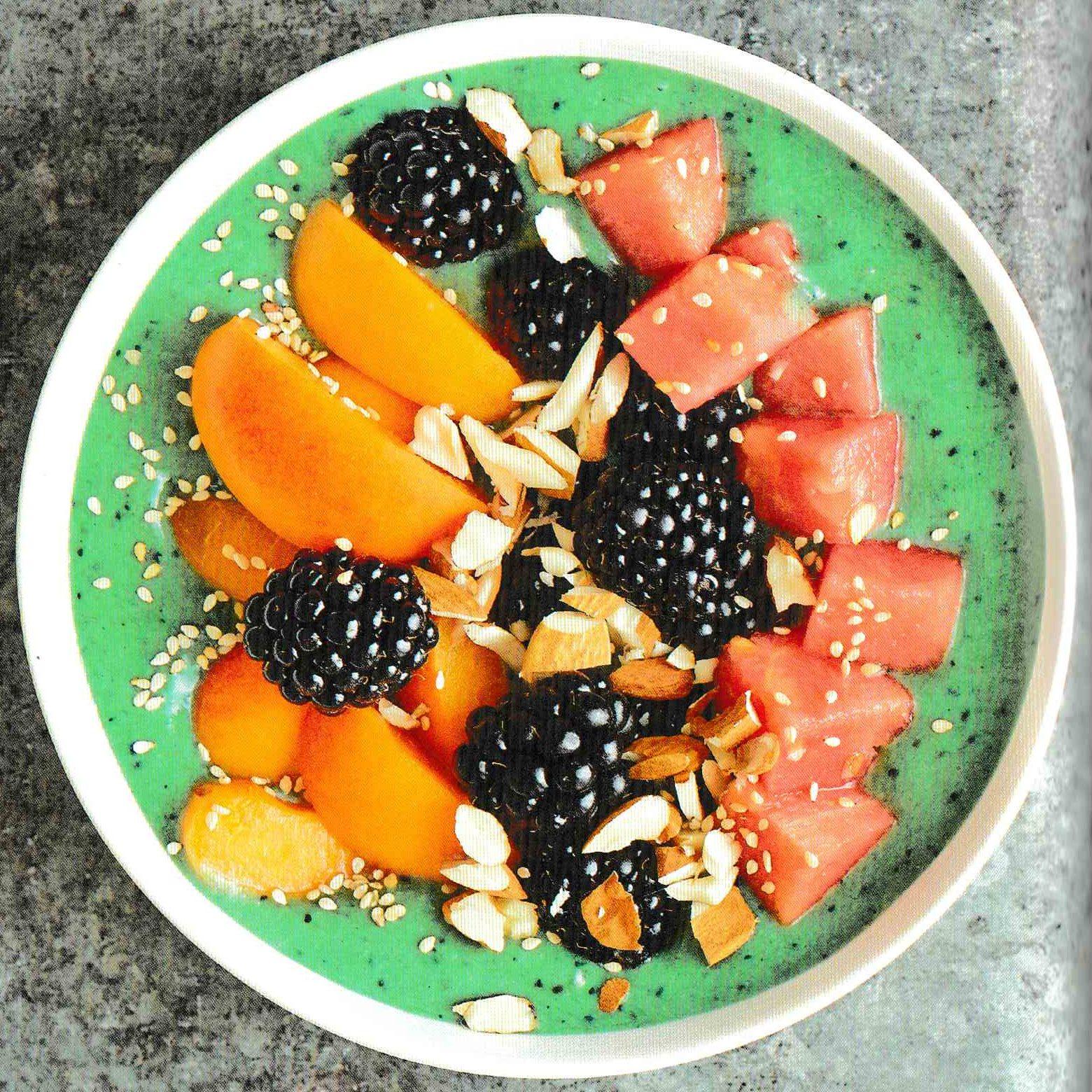 recette smoothie bowl pasteque spiruline
