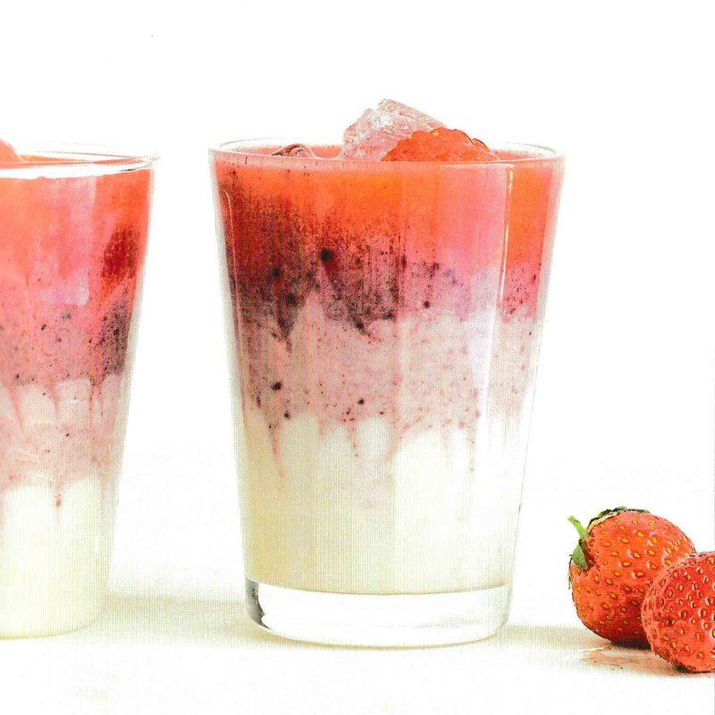 Smoothie açaï fraise yaourt